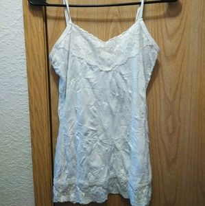 Maurices White Camisole w/ Lace Small Shirt Top